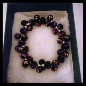 Jewelry - Multicolored Purple Metallic Crystal Bracelet